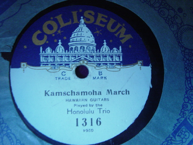 Honolulu Trio - Kamschamoha March / 1 2 3 4 - Coliseum 1316